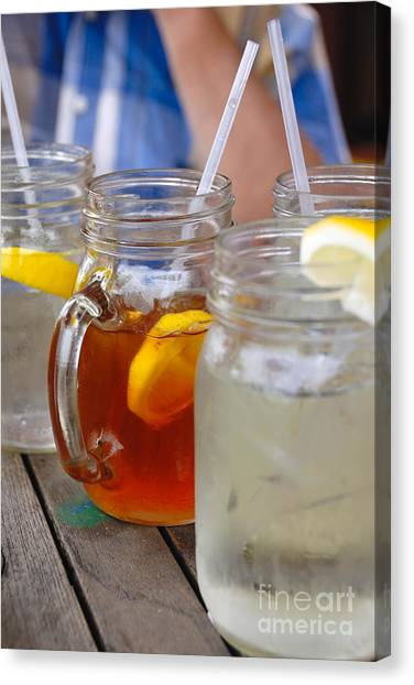 Iced Tea Canvas Print - Cool Summertime Drinks by Amy Cicconi