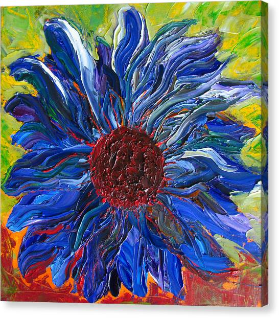 Cool Sunflower On A Sunny Day Canvas Print