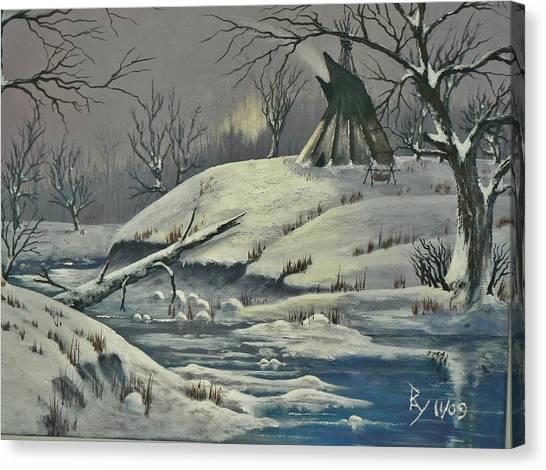 Cool Winter Eve Canvas Print