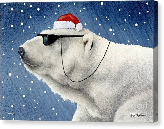 Christmas Canvas Print - Cool Yule... by Will Bullas