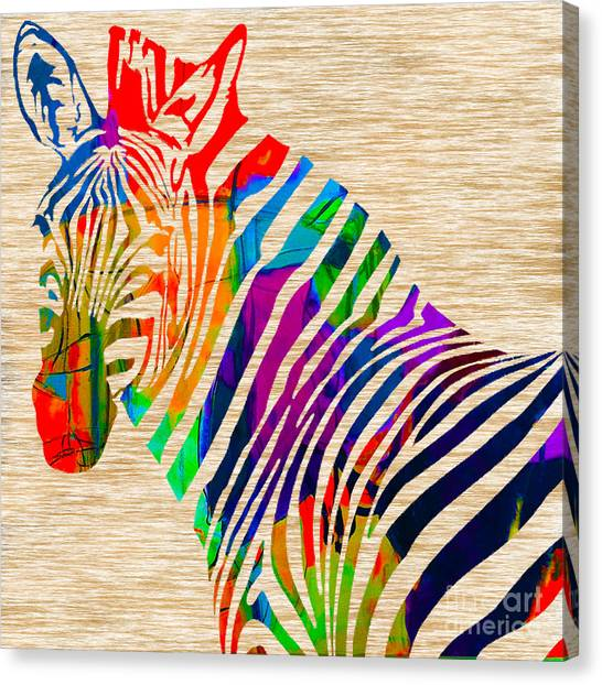 African Canvas Print - Cool Zebra by Marvin Blaine