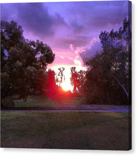 Golf Canvas Print - Coolest Sunset Pic Ever! Sunsets At Oak by Wyan Vong