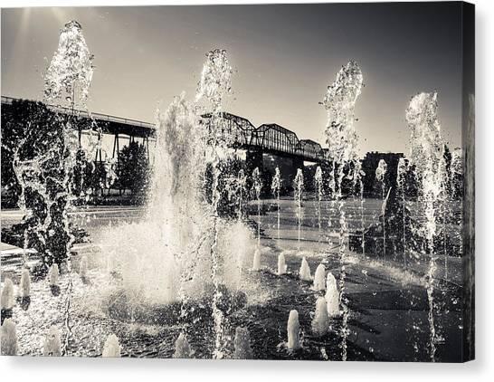 Coolidge Park Fountains Canvas Print