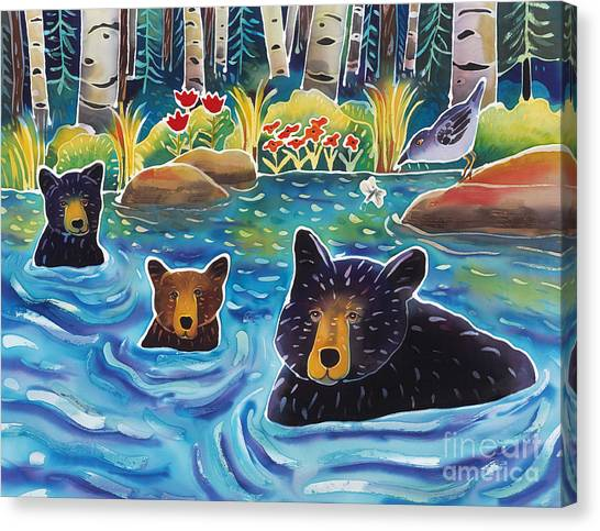 Glacier National Park Canvas Print - Cooling Off by Harriet Peck Taylor