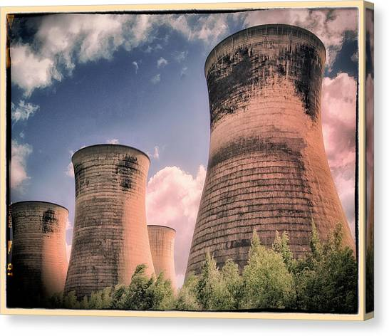 Nuclear Plants Canvas Print - Cooling Towers by Dominic Piperata
