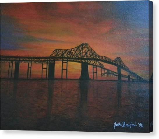 Cooper River Bridge Memories Canvas Print