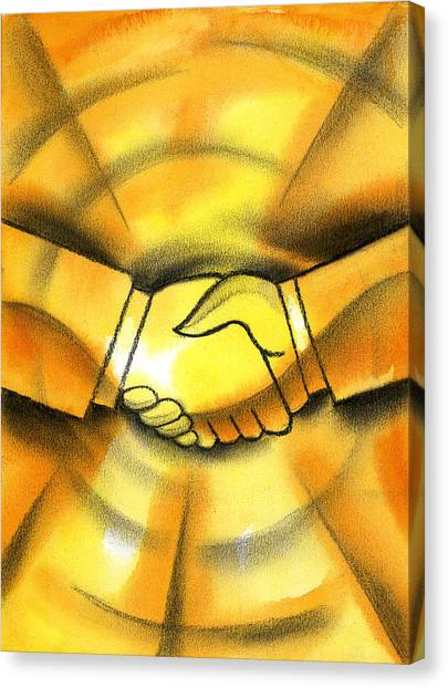 Merging Canvas Print - Cooperation by Leon Zernitsky