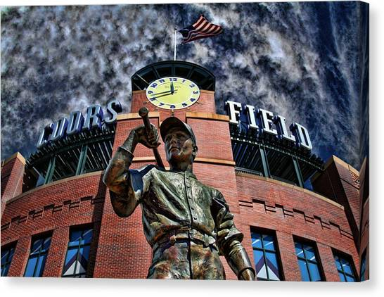Colorado Rockies Canvas Print - Coors Field by David Sanchez