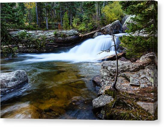 Copeland Falls Rockies Canvas Print