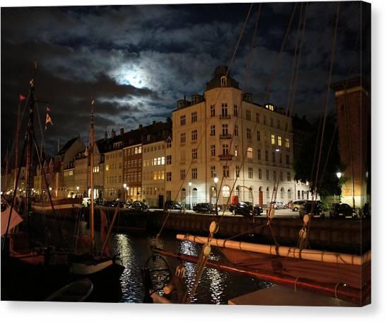 Copenhagen At Night Canvas Print