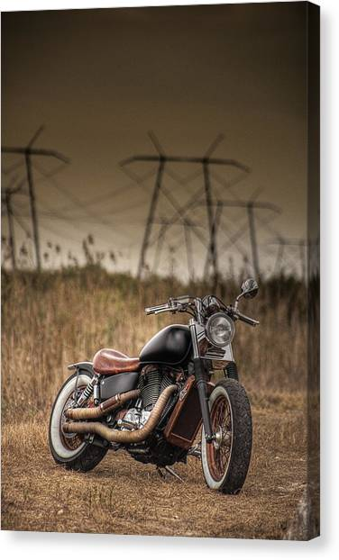 Copper Chopper Canvas Print