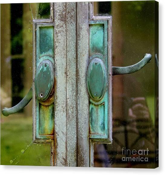 Copper Doorknobs Canvas Print