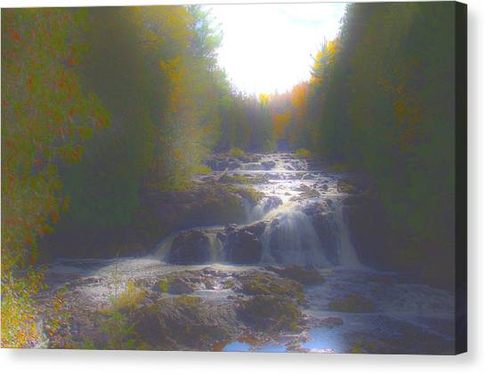 Copper Falls Canvas Print by Jim Baker