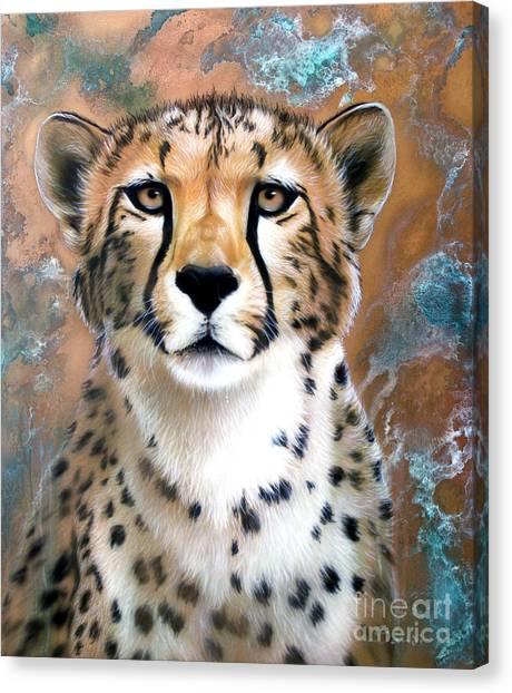 Cheetahs Canvas Print - Copper Flash - Cheetah by Sandi Baker