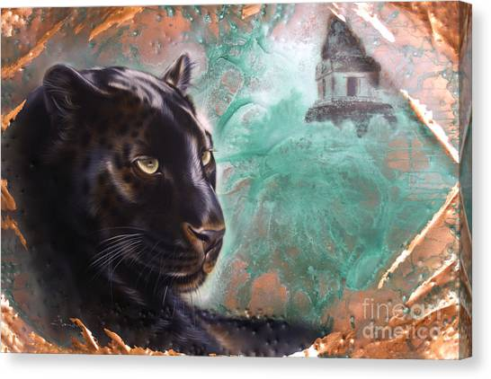 Copper Jaguar Canvas Print