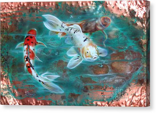 Copper Koi Canvas Print