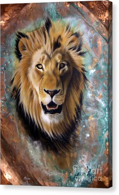 Copper Majesty - Lion Canvas Print