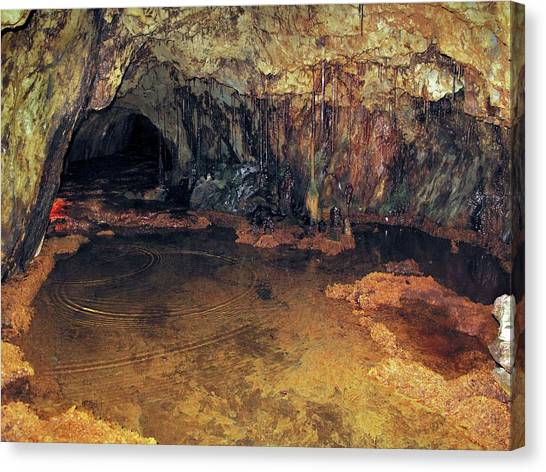 Stalactites Canvas Print - Copper Mine Stalactites by Cordelia Molloy/science Photo Library