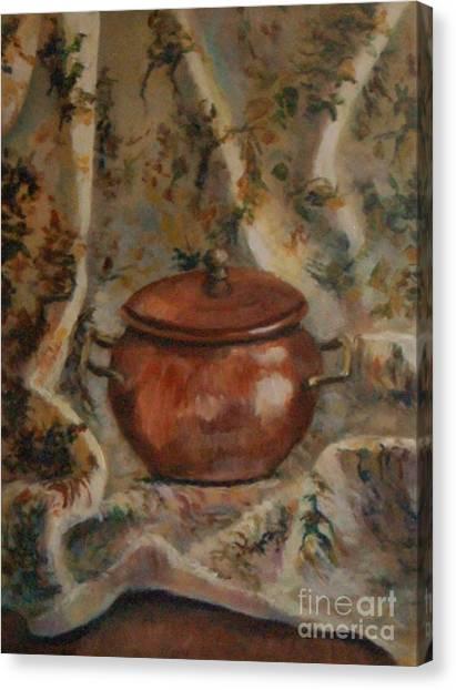 Copper Pot Canvas Print by Jana Baker