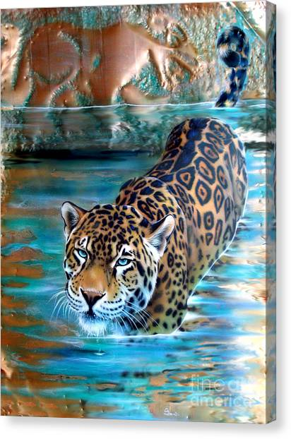 Copper - Temple Of The Jaguar Canvas Print