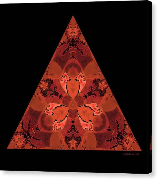 Copper Triangle Abstract Canvas Print
