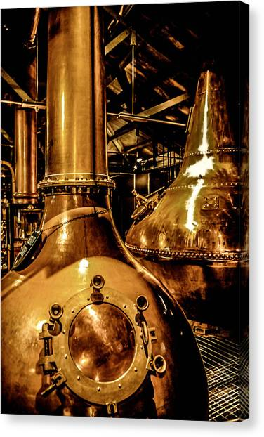 Copper Workplace Canvas Print