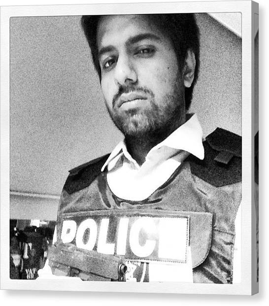 Law Enforcement Canvas Print - Copywriter By Day, Confused Police by Vikram Singh