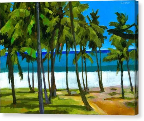 Coconut Canvas Print - Coqueiros De Tiririca by Douglas Simonson