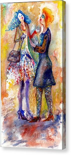 Coquette Canvas Print by Milen Litchkov