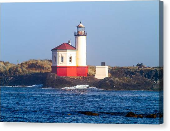 Coquille Lighthouse Canvas Print