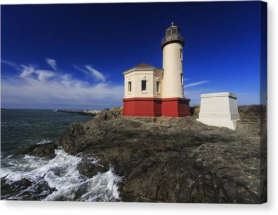 Lighthouses Canvas Print - Coquille River Lighthouse 3 by Mark Kiver