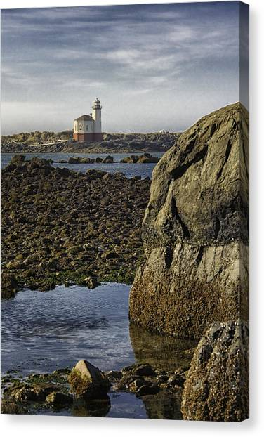 Coquille River Lighthouse Canvas Print by Jeanne Hoadley