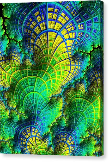 Canvas Print featuring the digital art Coral Electric by Susan Maxwell Schmidt