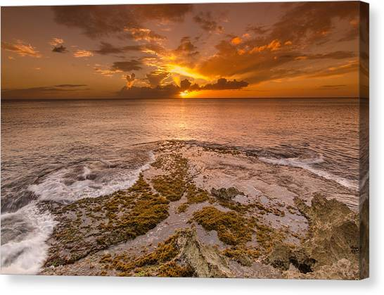 Coral Island Sunset Canvas Print