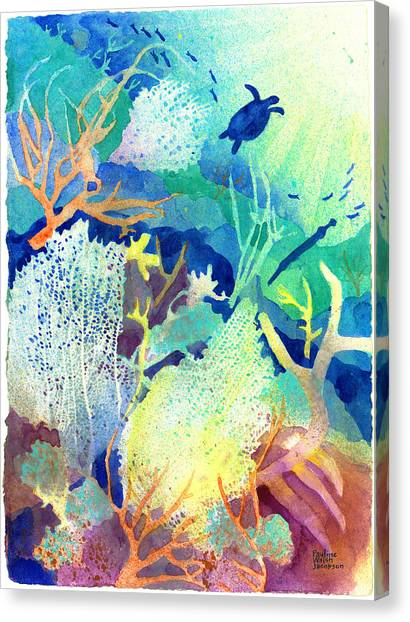 Coral Reef Dreams 2 Canvas Print