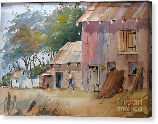 Coral Road Farm Canvas Print