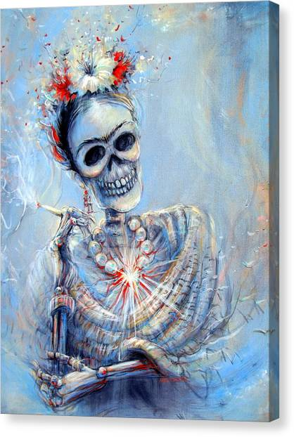Corazon De Frida Canvas Print