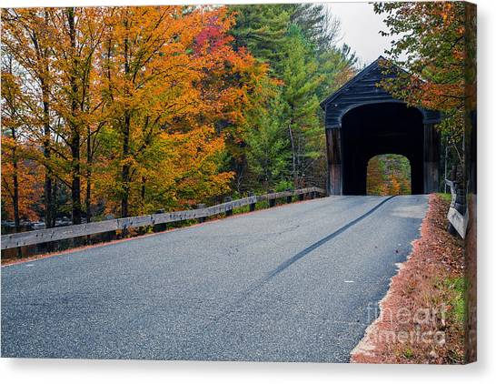 New Hampshire Canvas Print - Corbin Covered Bridge New Hampshire by Edward Fielding
