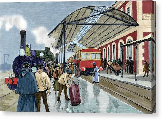 Andalusia Canvas Print - Cordoba Station Arrival Of A Passenger by Prisma Archivo