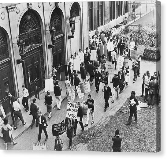 Columbia University Canvas Print - Core Pickets Columbia U by Fred Palumbo