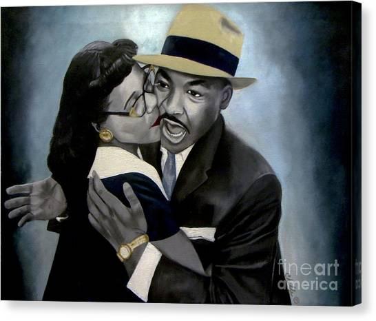 Coretta And Martin Canvas Print