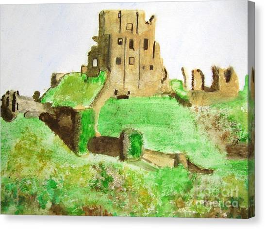 Corfe Castle Canvas Print