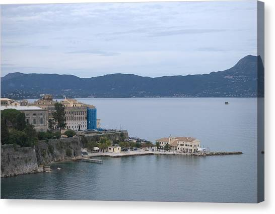 Corfu City 4 Canvas Print
