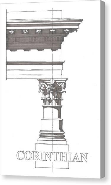 Corinithian Order Canvas Print