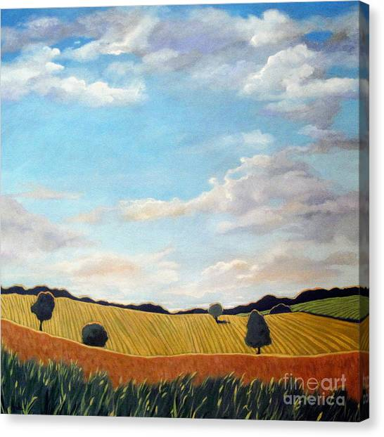 Corn And Wheat - Landscape Canvas Print