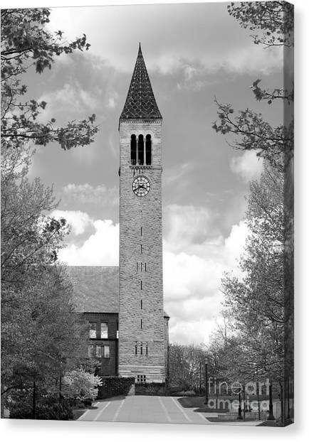 Cornell University Canvas Print - Cornell University Mc Graw Tower by University Icons
