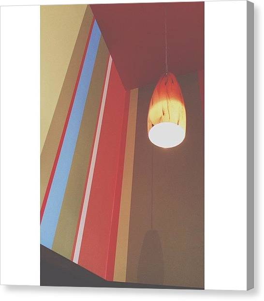 Meals Canvas Print - Corner Booth by Nicole Shelton