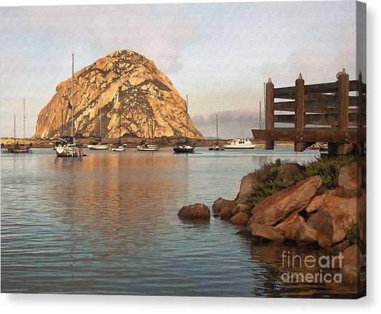 Corner Harbor Canvas Print