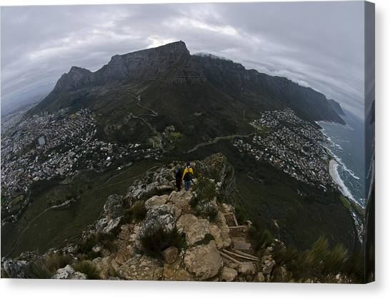 Table Mountain Canvas Print - Corner Of The Table by Aaron Bedell