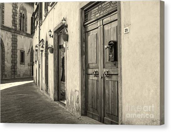 Corner Of Volterra Canvas Print